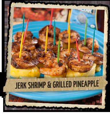 Jerk Shrimp and Grilled Pineapple