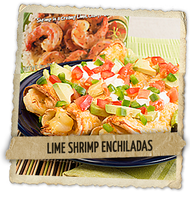 Lime Shrimp Enchiladas