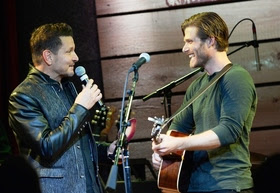 """Concert for Love and Acceptance""  Co-Host Ty Herndon Presenting Chris Carmack with the ""RALY"" award"