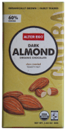 Alter Eco Organic Dark Chocolate Almond Bar 2.8oz