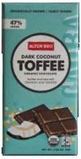 Alter Eco Dark Chocolate Coconut & Toffee 12x2.82 Oz