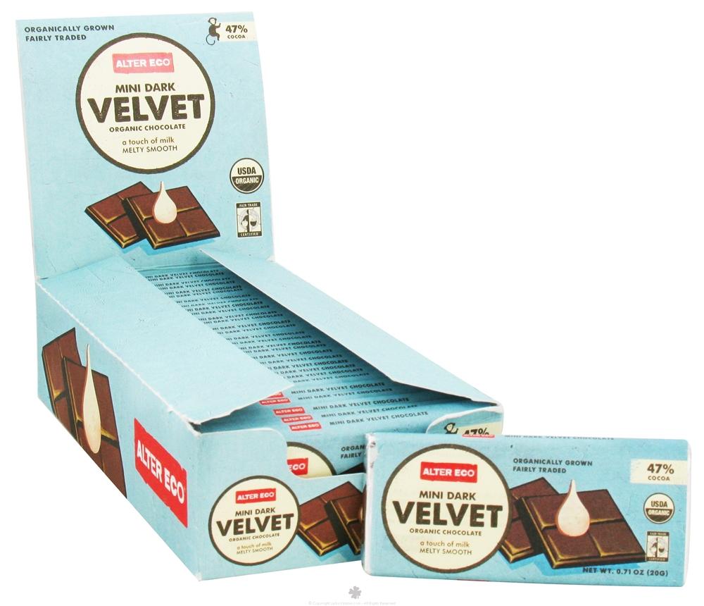 Alter Eco - Organic Chocolate Mini Dark Velvet 47 Cocoa - 0.71 Oz. Daily Deal