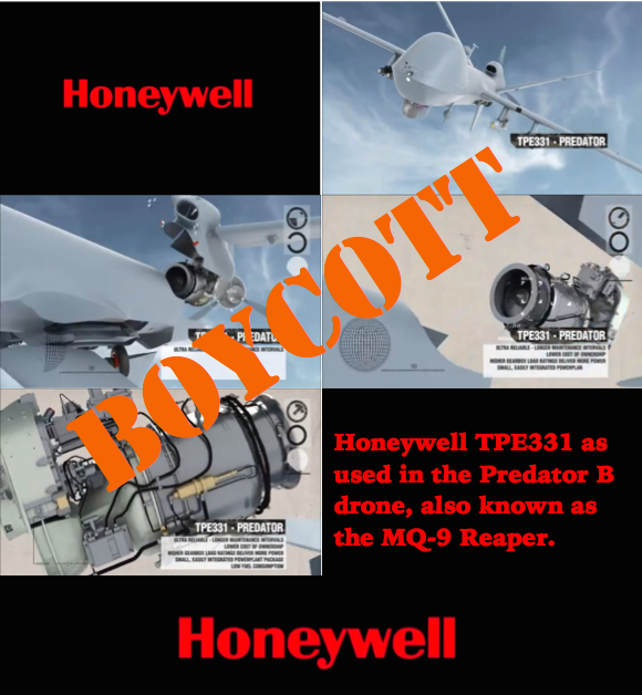 Honeywell, stop profiting from illegal drone killing!