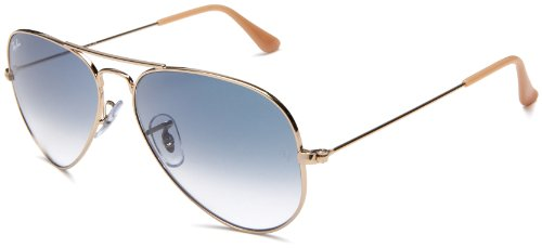 aviator ray ban sunglasses a8ha  805289307662 Ray-Ban Aviator Non-Polarized Sunglasses,Gold Frame/Blue  Gradient Lens