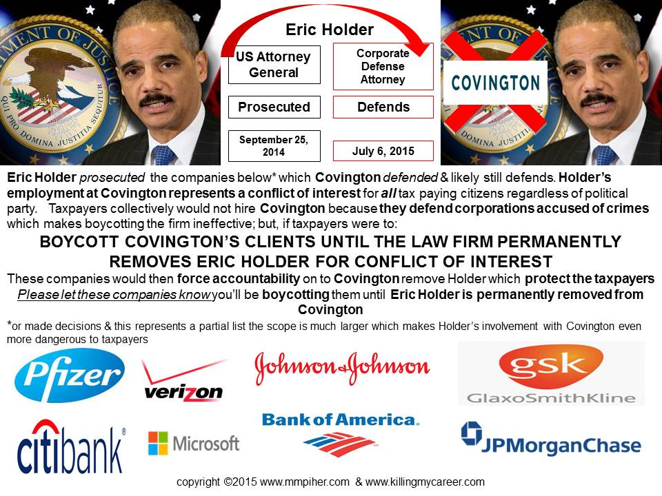 BOYCOTT Covington's Clients Until They #FireEricHolder