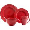 Gibson Stanza 16-Piece Dinnerware Set - Red