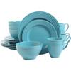 Gibson Stanza 16-Piece Dinnerware Set Turquoise