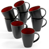 Gibson Soho Lounge Gibson Home Soho Lounge 14 oz Mug, Red Reactive Stoneware, 8pk
