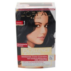 4037900673016 loral excellence creme coloration 1 schwarz - Coloration Excellence