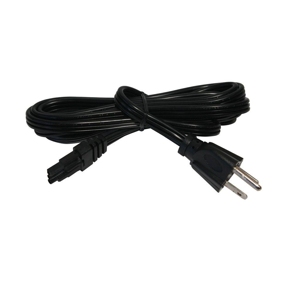 714176891644 irradiant under cabinet lighting 6 ft black power cord for led under cabinet li cabinet lighting 6