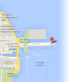 Map to Navy Pier