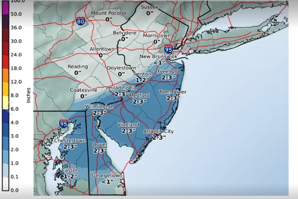 Monmouth County Could See More Snow Friday Afternoon