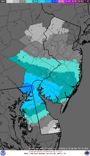 Forecasters Call For Snow Monday Morning, Tuesday