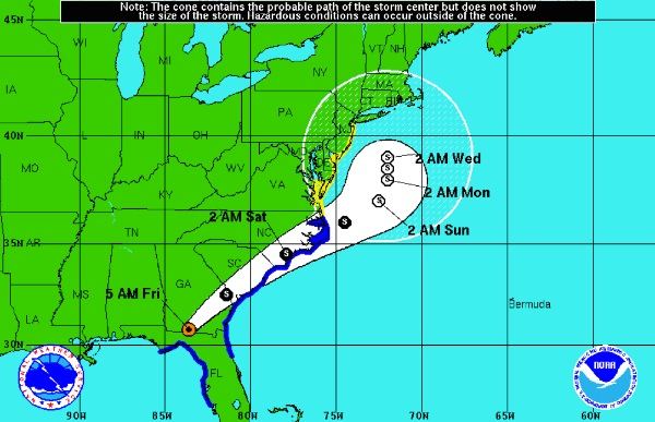 Hermine Weakens, Tropical Storm Watch Still In Effect For NJ