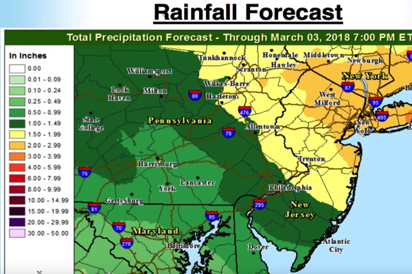 'Major' Nor'easter To Bring Powerful Winds, Rain To Monmouth County