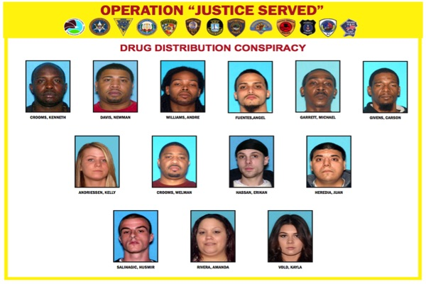 Forty Two Arrested, Drugs Seized In 'Operation Justice Served'
