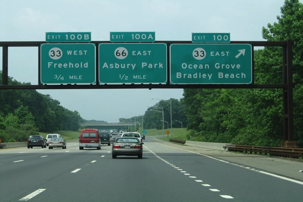 Garden State Parkway Exit Changes