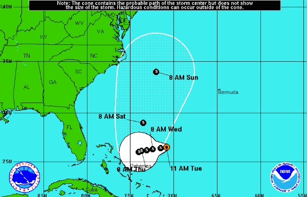 Track of Tropical Storm Joaquin Still Uncertain