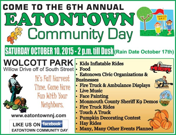 Eatontown Community Day Returns Oct. 10