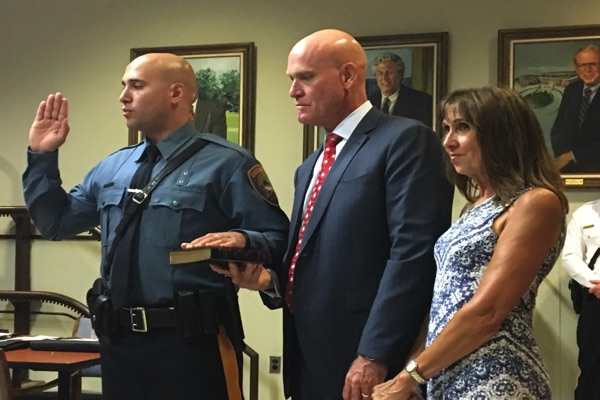 Longtime Eatontown Police Sergeant Honored, New Officers Hired