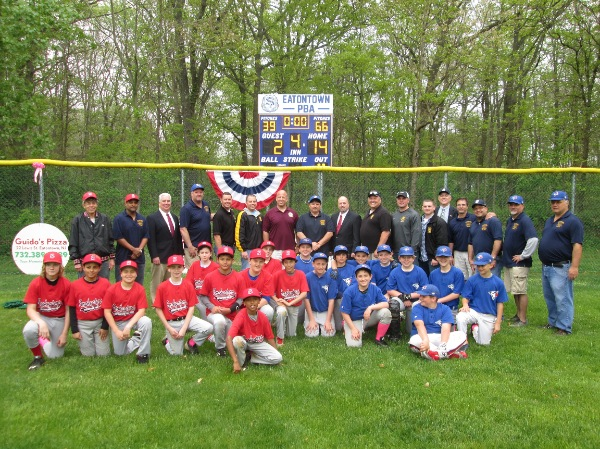 Eatontown Park Gets New Little League Scoreboard Thanks To Local PBA