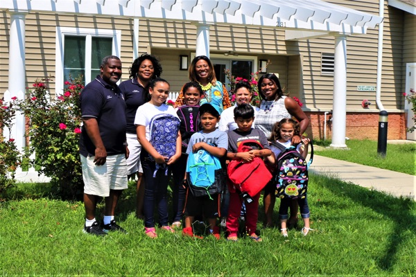 NAACP and Long Branch Church Award Backpacks for School
