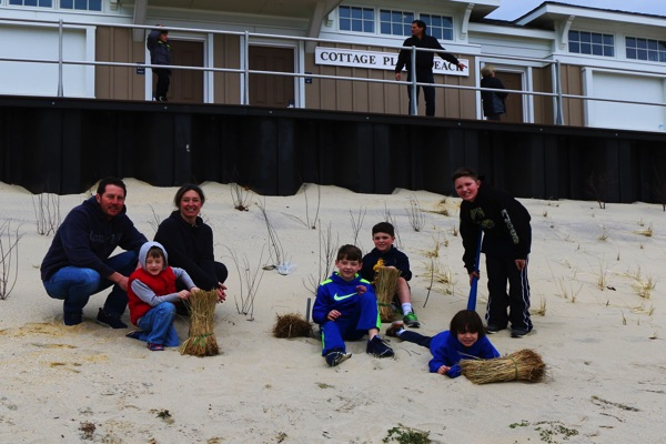 Volunteers Plant Beach Grass in Long Branch