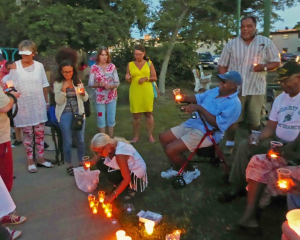 Candlelight Vigil in West End Park