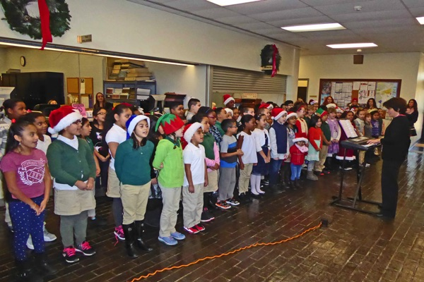 Anastasia School 3rd Grade Carolers Tour and Sing at City Hall