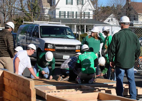 Long Branch High School Students Building Homes for Families