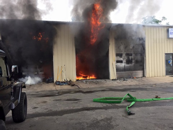 Long Branch Auto Repair Shop Damaged By Fire