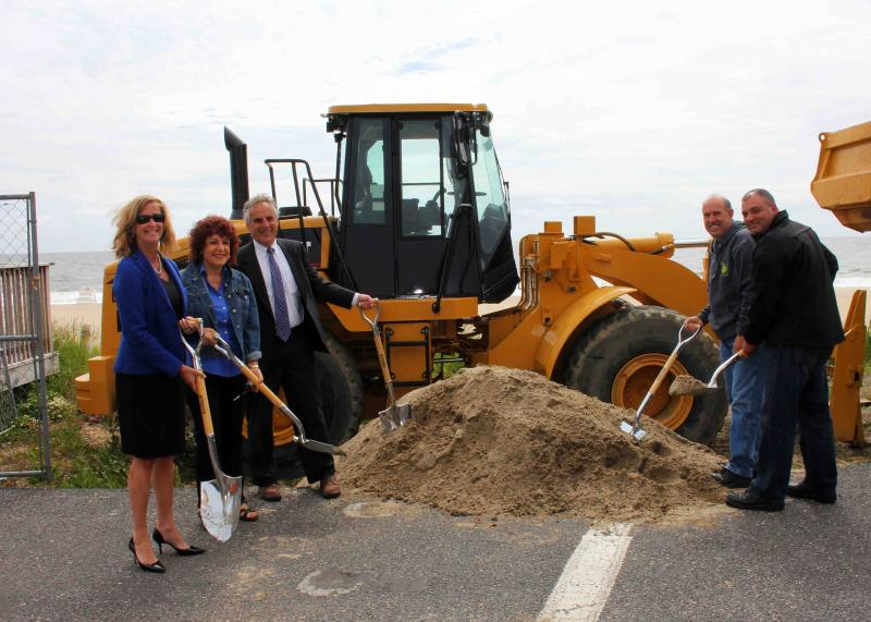 Long Branch Boardwalk Construction Begins