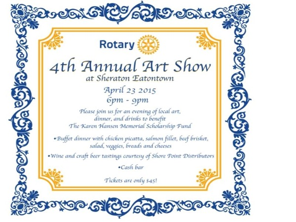 Long Branch Rotary Art Show Coming April 23