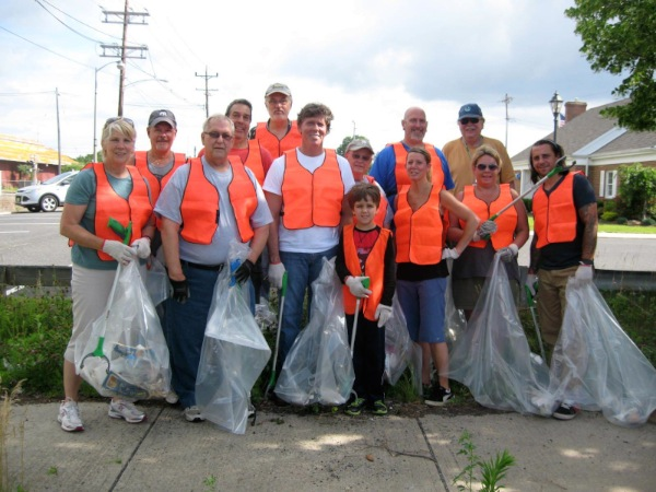 Long Branch Rotary Club Helps Clean Up West End