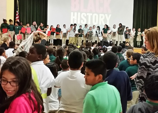 Long Branch Students Welcome Black History Month