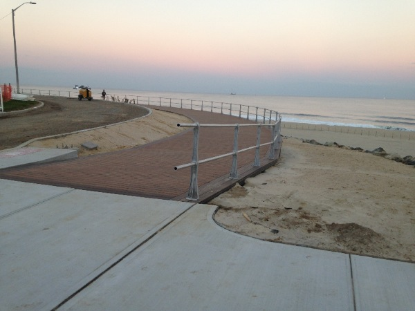 Long Branch Boardwalk Work Progressing