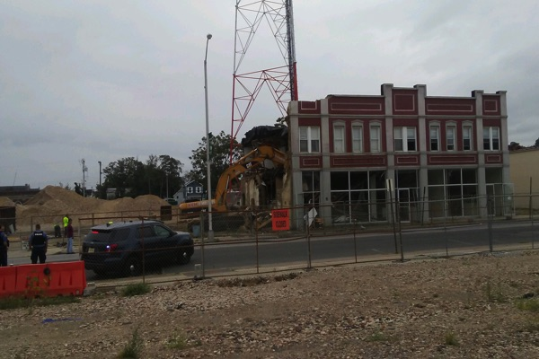 Demolition Of Final Broadway Arts Center Building Begins
