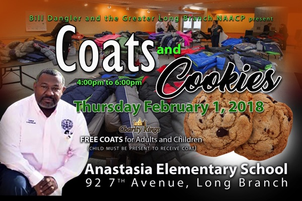 Coats and Cookies To Help Long Branch Community
