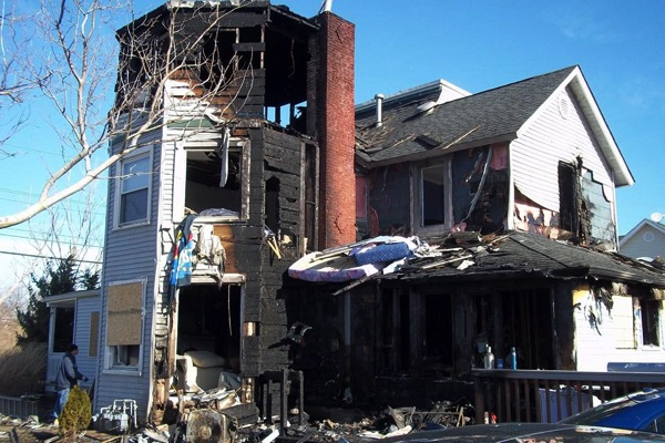 Early Morning Long Branch Fire Guts Home