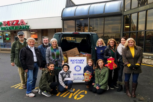 Long Branch Schools and Rotary Join in Food Drive