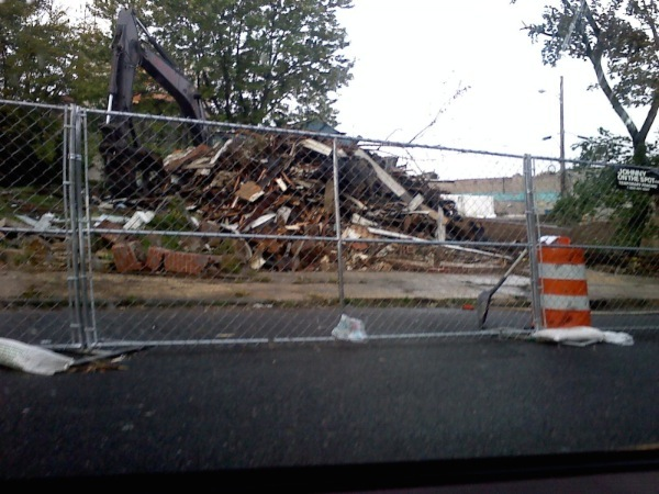 Fire-Damaged Second Avenue Building Demolished