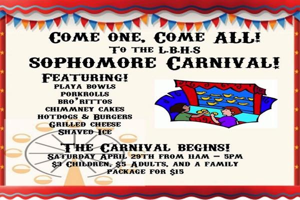 Long Branch High School Hosting Sophomore Carnival