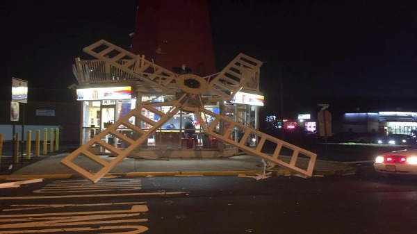 Blades Of Long Branch's Windmill Restaurant Collapse
