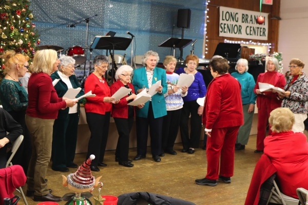 Long Branch Senior Center Swings and Sings for Holidays
