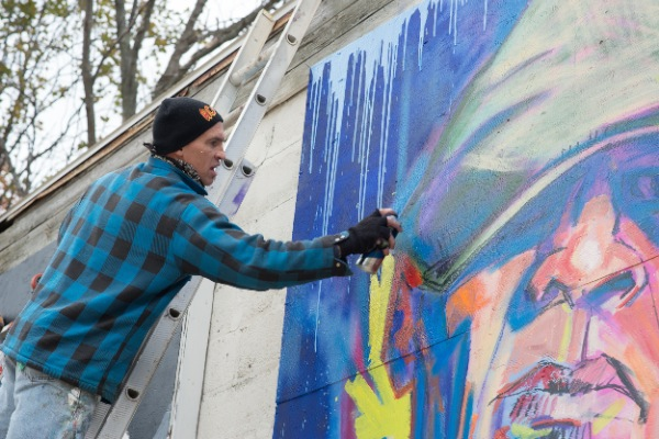 Local Artists Create Mini Murals At Future Long Branch Beer Garden