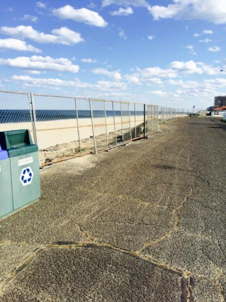 Long Branch Beach Front Fencing Repaired