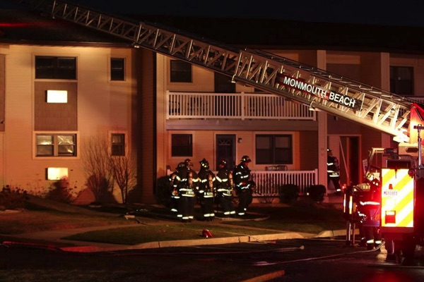Monmouth Beach Condo Fire Leaves Several Residents Homeless