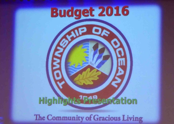 Ocean Holds Municipal Budget to No Increase Tax Rate