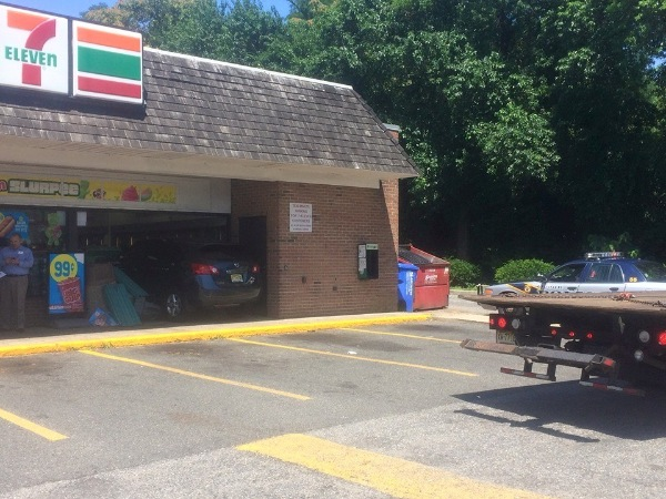 Car Crashes Into Ocean Township 7-11