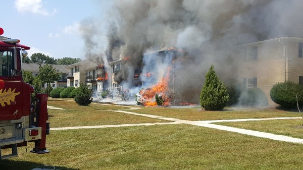 Crews On Scene Of Large Fire At Ocean Township Apartment Complex